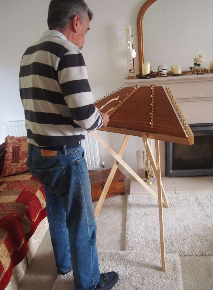 Hammered Dulcimer stand by Dulcimer Heaven